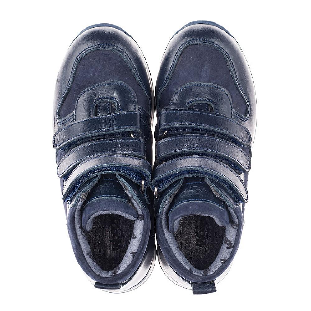 Детские демисезонные ботинки Woopy Orthopedic синие для мальчиков натуральная кожа и нубук размер 25-34 (3850) Фото 5