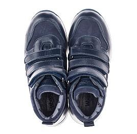 Детские демисезонные ботинки Woopy Orthopedic синие для мальчиков  натуральная кожа и нубук размер 27-33 (3850) Фото 5