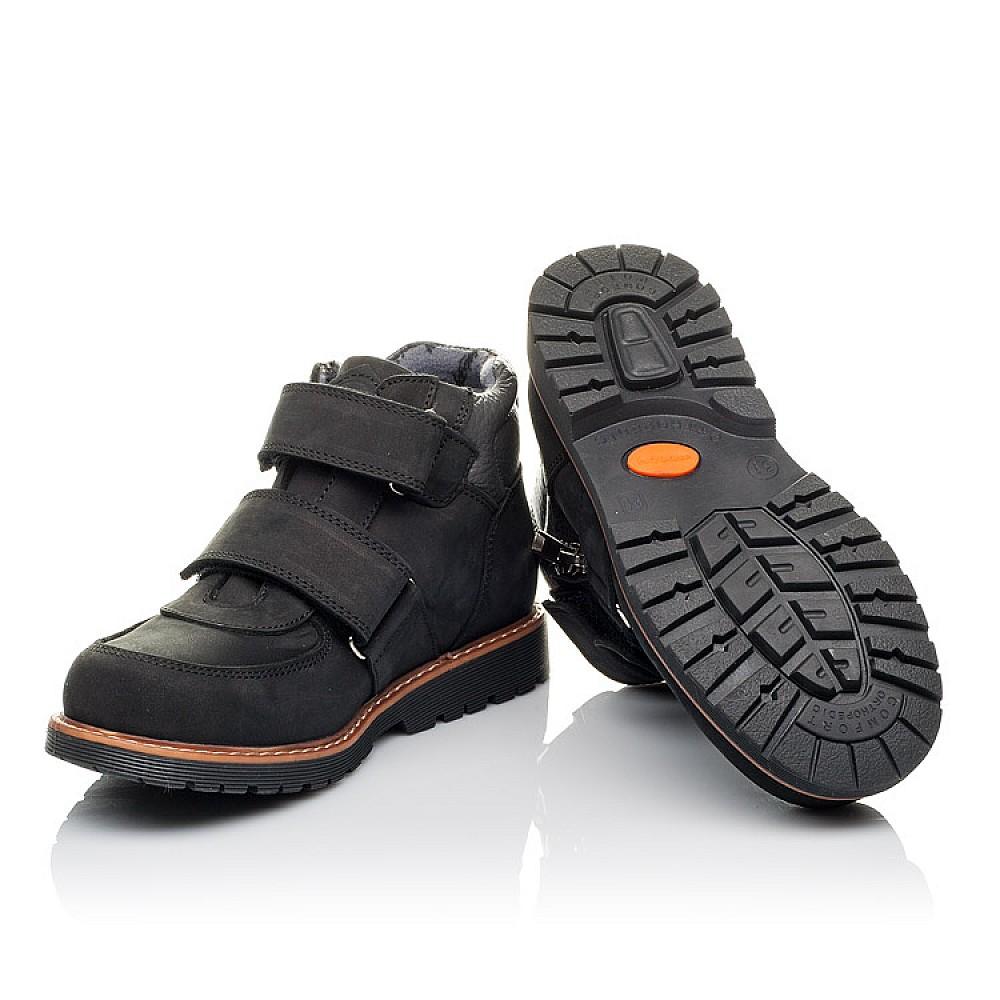 Детские демісезонні черевики Woopy Orthopedic чорні для мальчиков натуральний нубук размер 31-39 (3851) Фото 2