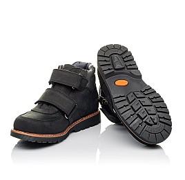 Детские демисезонные ботинки Woopy Orthopedic черные для мальчиков натуральный нубук размер 31-39 (3851) Фото 2