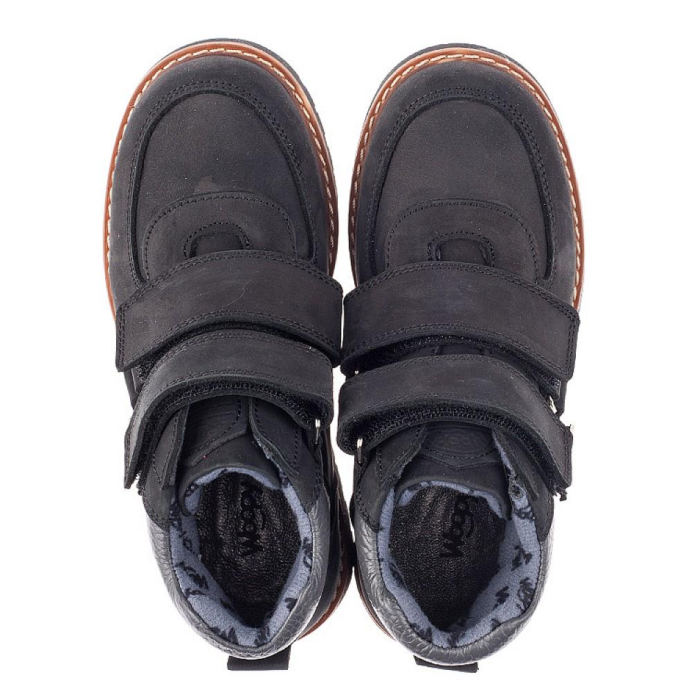 Детские демісезонні черевики Woopy Orthopedic чорні для мальчиков натуральний нубук размер 31-39 (3851) Фото 5