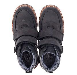 Детские демисезонные ботинки Woopy Orthopedic черные для мальчиков натуральный нубук размер 31-39 (3851) Фото 5