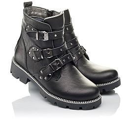 Детские демисезонные ботинки Woopy Orthopedic черные для девочек натуральная кожа размер 33-39 (3852) Фото 1