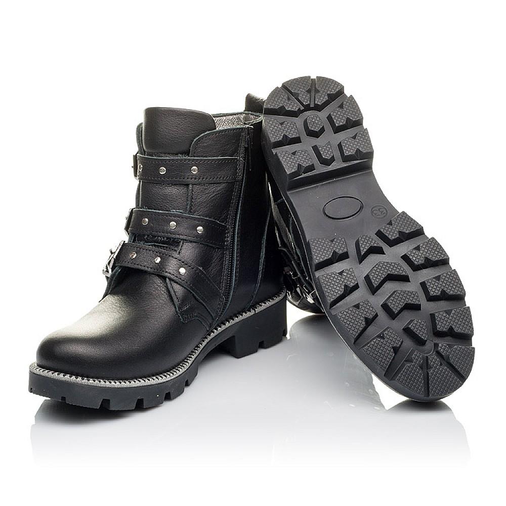 Детские демисезонные ботинки Woopy Orthopedic черные для девочек натуральная кожа размер 31-39 (3852) Фото 2