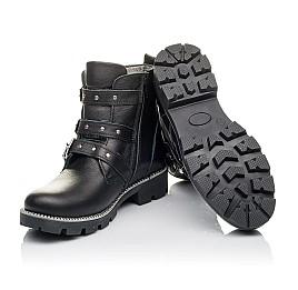 Детские демисезонные ботинки Woopy Orthopedic черные для девочек натуральная кожа размер 33-39 (3852) Фото 2