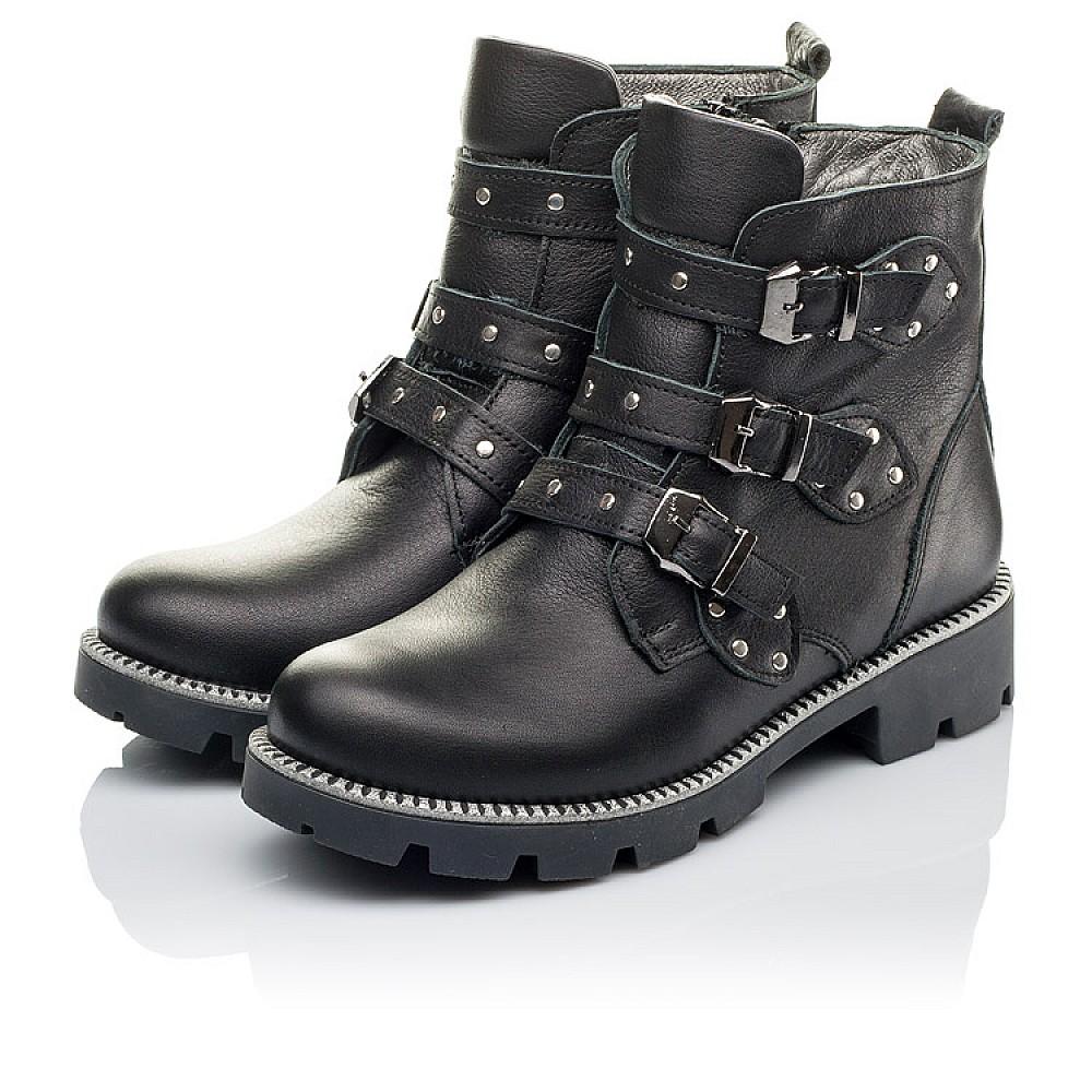 Детские демисезонные ботинки Woopy Orthopedic черные для девочек натуральная кожа размер 31-39 (3852) Фото 3
