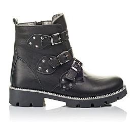 Детские демисезонные ботинки Woopy Orthopedic черные для девочек натуральная кожа размер 31-39 (3852) Фото 4