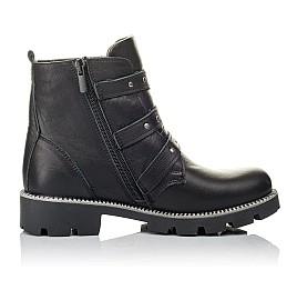 Детские демисезонные ботинки Woopy Orthopedic черные для девочек натуральная кожа размер 33-39 (3852) Фото 5