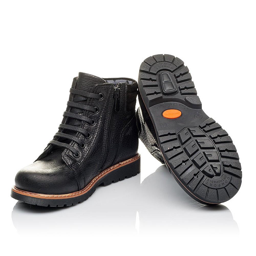 Детские демисезонные ботинки Woopy Orthopedic черные для мальчиков натуральная кожа размер 31-34 (3853) Фото 2