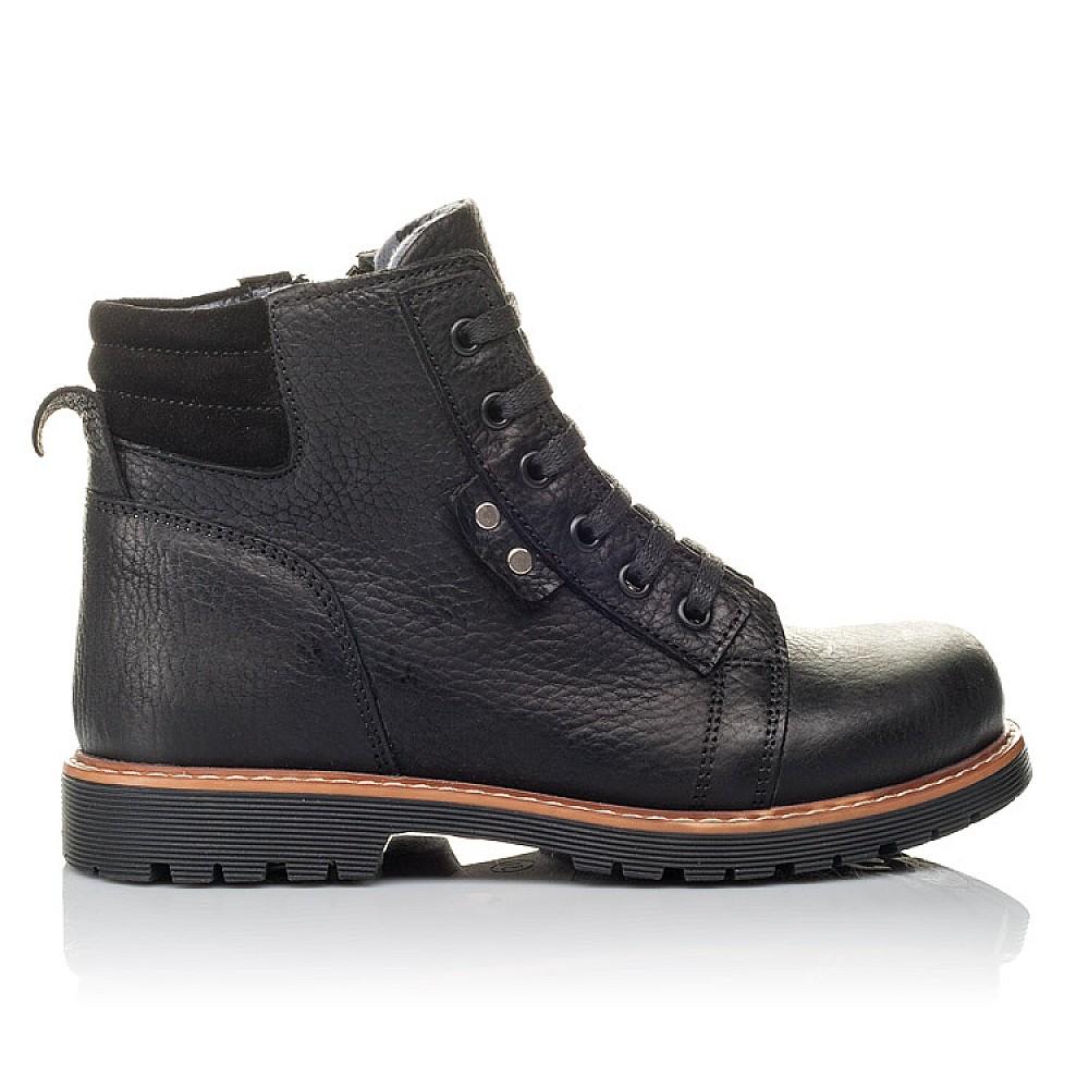 Детские демисезонные ботинки Woopy Orthopedic черные для мальчиков натуральная кожа размер 31-34 (3853) Фото 4