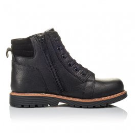 Детские демисезонные ботинки Woopy Orthopedic черные для мальчиков  натуральная кожа размер 31-34 (3853) Фото 5