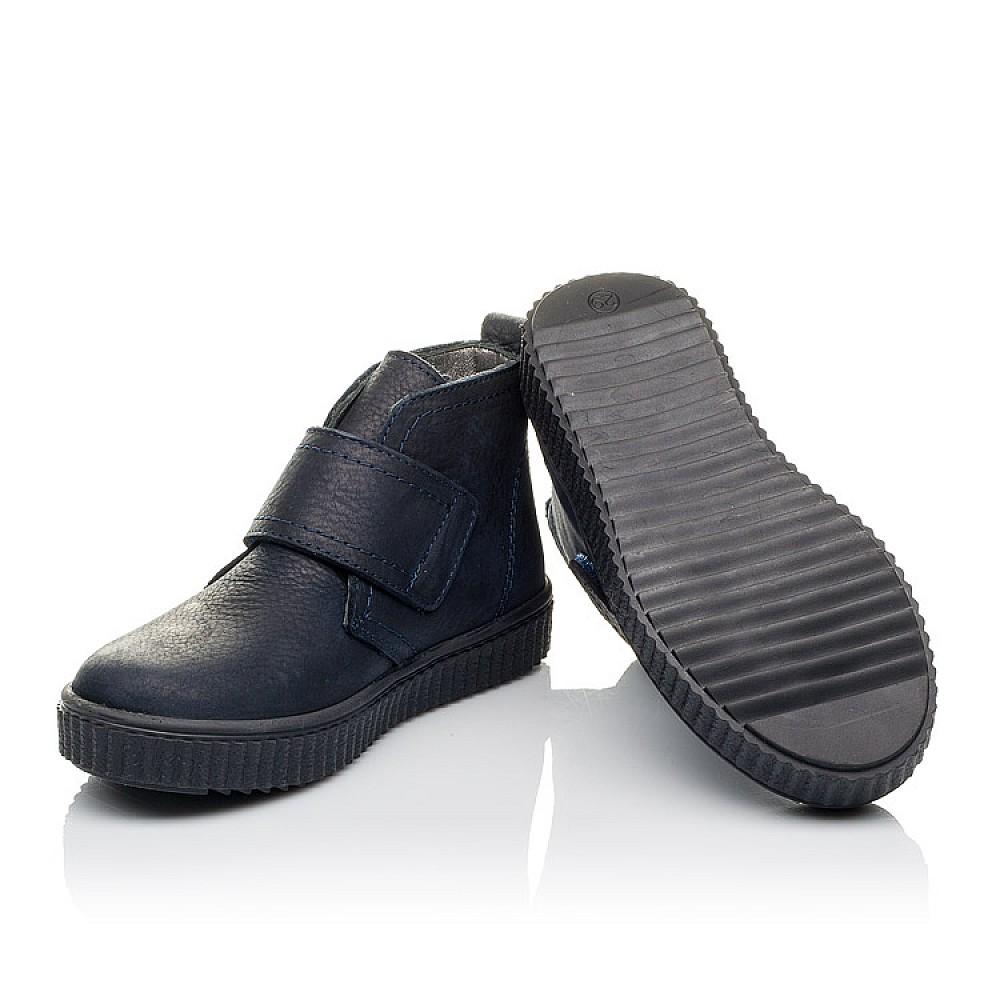 Детские демисезонные ботинки Woopy Orthopedic темно-синие для мальчиков натуральный нубук размер 23-35 (3854) Фото 2