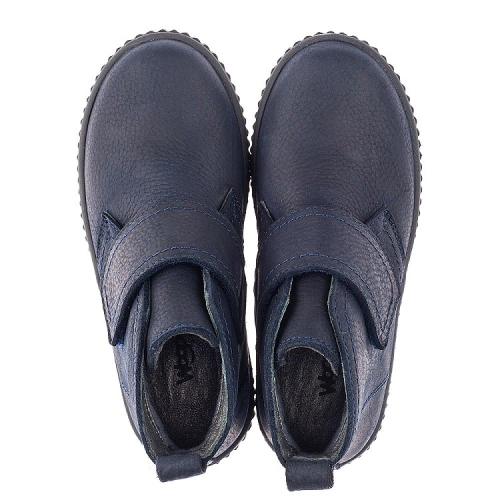 Детские демисезонные ботинки Woopy Orthopedic темно-синие для мальчиков натуральный нубук размер 23-35 (3854) Фото 5