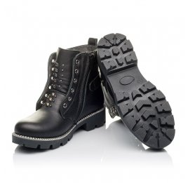 Детские демисезонные ботинки Woopy Orthopedic черные для девочек натуральная кожа размер 31-39 (3855) Фото 2