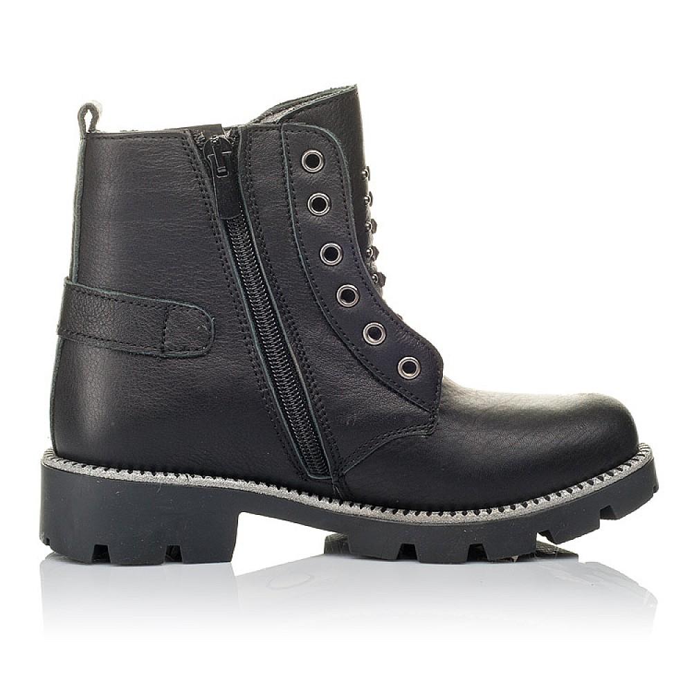 Детские демисезонные ботинки Woopy Orthopedic черные для девочек натуральная кожа размер 31-39 (3855) Фото 5