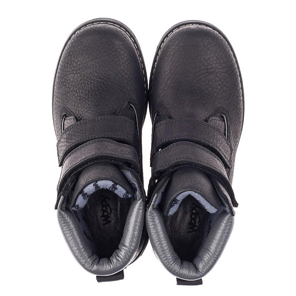 Детские демисезонные ботинки Woopy Orthopedic черные для мальчиков натуральная кожа размер 26-40 (3856) Фото 5