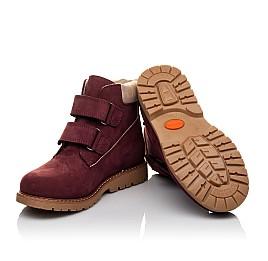 Детские демисезонные ботинки Woopy Orthopedic бордовые для девочек натуральный нубук размер 30-37 (3858) Фото 2