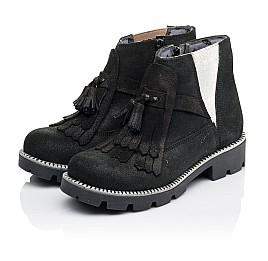 Детские демисезонные ботинки Woopy Orthopedic черные для девочек натуральный нубук размер 31-38 (3859) Фото 3