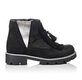 Детские демисезонные ботинки Woopy Orthopedic черные для девочек натуральный нубук размер 31-31 (3859) Фото 4