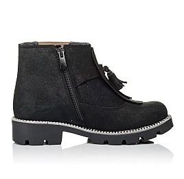 Детские демисезонные ботинки Woopy Orthopedic черные для девочек натуральный нубук размер 31-31 (3859) Фото 5