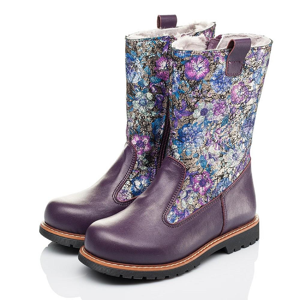 Детские зимние сапожки на меху Woopy Orthopedic фиолетовые для девочек натуральная кожа размер 28-36 (3860) Фото 3