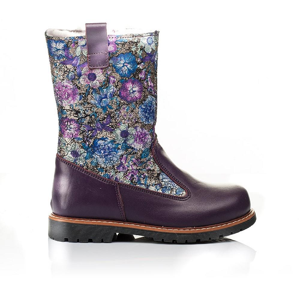 Детские зимние сапожки на меху Woopy Orthopedic фиолетовые для девочек натуральная кожа размер 28-36 (3860) Фото 4
