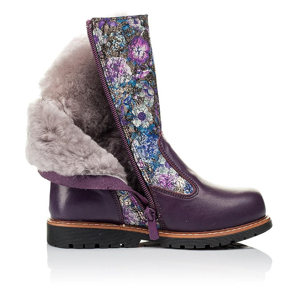 Детские зимние сапожки на меху Woopy Orthopedic фиолетовые для девочек натуральная кожа размер 28-36 (3860) Фото 5
