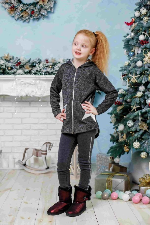 Девочка обута в детские угги Woopy Orthopedic бордовые (3863) Фото 1