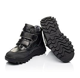 Детские демисезонные ботинки Woopy Orthopedic черные для мальчиков  натуральная кожа размер 40-40 (3865) Фото 2