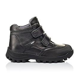 Детские демисезонные ботинки Woopy Orthopedic черные для мальчиков  натуральная кожа размер 40-40 (3865) Фото 4