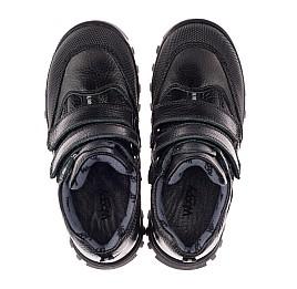 Детские демисезонные ботинки Woopy Orthopedic черные для мальчиков  натуральная кожа размер 40-40 (3865) Фото 5