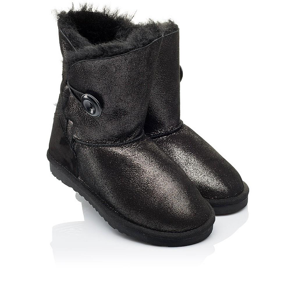 Детские угги Woopy Orthopedic черные для девочек натуральный нубук размер 25-35 (3866) Фото 1