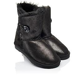 Детские угги Woopy Orthopedic черные для девочек натуральный нубук размер 25-34 (3866) Фото 1
