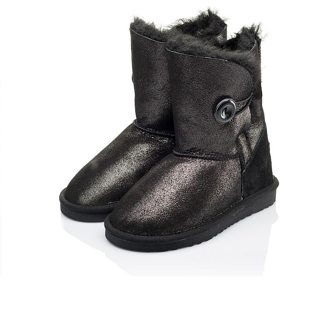 Детские угги Woopy Orthopedic черные для девочек натуральный нубук размер 25-35 (3866) Фото 3