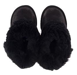 Детские угги Woopy Orthopedic черные для девочек натуральный нубук размер 25-34 (3866) Фото 5