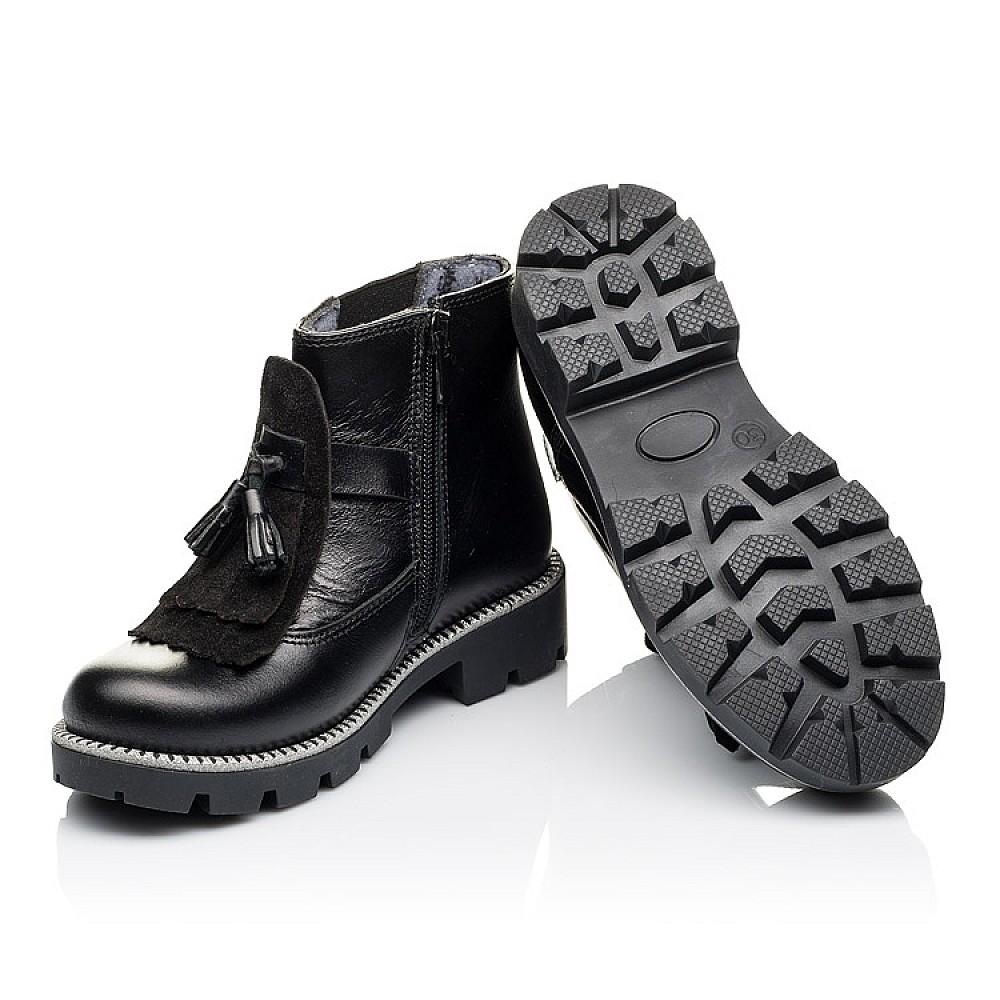 Детские демисезонные ботинки Woopy Orthopedic черные для девочек натуральная кожа размер 30-39 (3869) Фото 2