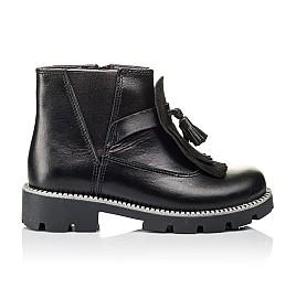 Детские демисезонные ботинки Woopy Orthopedic черные для девочек  натуральная кожа размер 30-39 (3869) Фото 4