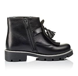 Детские демисезонные ботинки Woopy Orthopedic черные для девочек  натуральная кожа размер 30-39 (3869) Фото 5