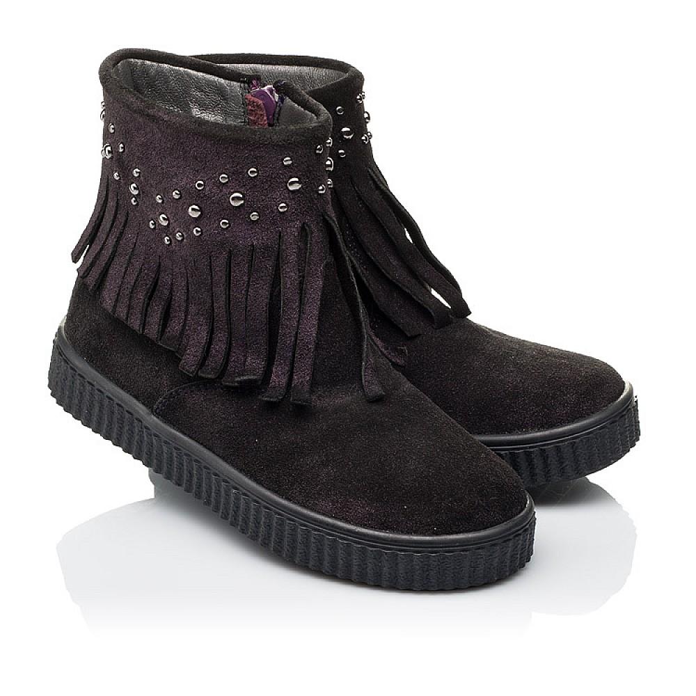 Детские демисезонные ботинки Woopy Orthopedic фиолетовые для девочек натуральная замша размер 25-33 (3870) Фото 1