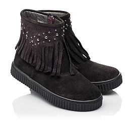 Детские демисезонные ботинки Woopy Orthopedic фиолетовые для девочек натуральный замш размер 25-33 (3870) Фото 1