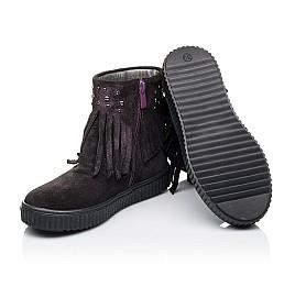 Детские демисезонные ботинки Woopy Orthopedic фиолетовые для девочек натуральный замш размер 25-33 (3870) Фото 2