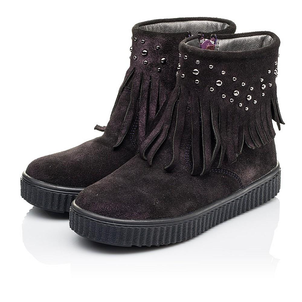Детские демисезонные ботинки Woopy Orthopedic фиолетовые для девочек натуральная замша размер 25-33 (3870) Фото 3