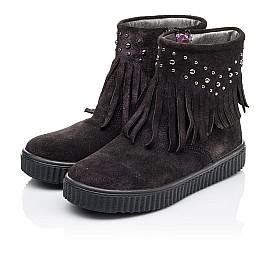 Детские демисезонные ботинки Woopy Orthopedic фиолетовые для девочек натуральный замш размер 25-33 (3870) Фото 3