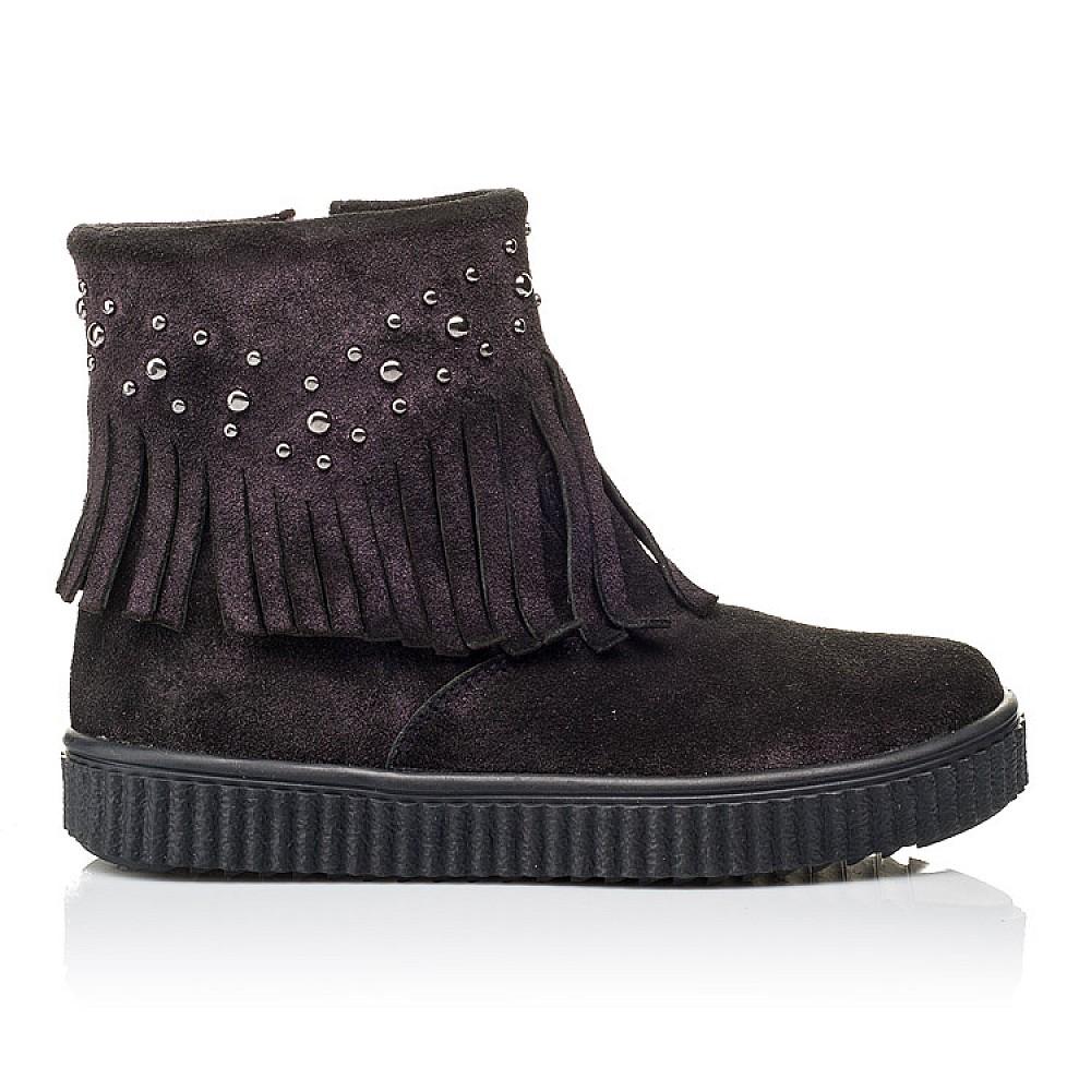 Детские демисезонные ботинки Woopy Orthopedic фиолетовые для девочек натуральная замша размер 25-33 (3870) Фото 4