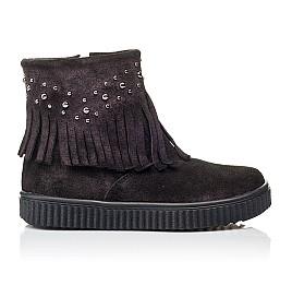 Детские демисезонные ботинки Woopy Orthopedic фиолетовые для девочек натуральный замш размер 25-33 (3870) Фото 4