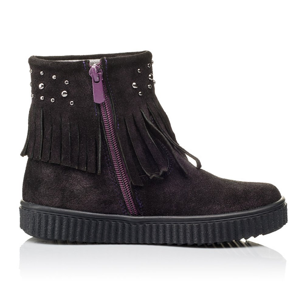 Детские демисезонные ботинки Woopy Orthopedic фиолетовые для девочек натуральная замша размер 25-33 (3870) Фото 5