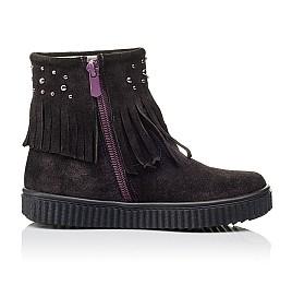Детские демисезонные ботинки Woopy Orthopedic фиолетовые для девочек натуральный замш размер 25-33 (3870) Фото 5