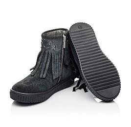 Детские демисезонные ботинки Woopy Orthopedic серые для девочек натуральная замша размер 28-36 (3871) Фото 2