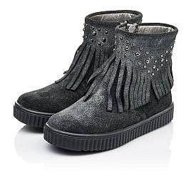 Детские демисезонные ботинки Woopy Orthopedic серые для девочек натуральная замша размер 28-36 (3871) Фото 3