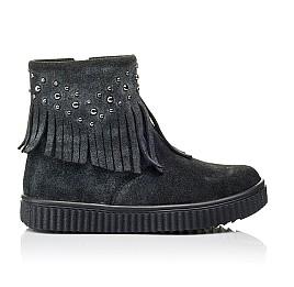Детские демисезонные ботинки Woopy Orthopedic серые для девочек натуральная замша размер 28-36 (3871) Фото 4